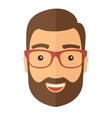 The hipster with a beard avatar vector image