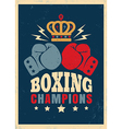 boxing retro poster new crown vector image