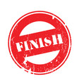 finish rubber stamp vector image