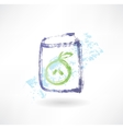 apple juice box grunge icon vector image vector image