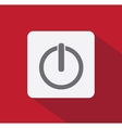 Power button flat style vector image