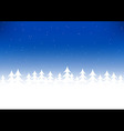 Christmas tree snow blue sky vector image