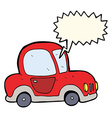 cartoon car with speech bubble vector image