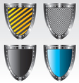 Shields set vector image vector image