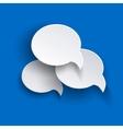 Abstract speech bubbles o blue backgound vector image