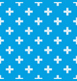 crossing road pattern seamless blue vector image
