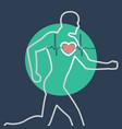 exercise stress test logo icon design vector image