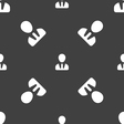 male silhouette icon sign Seamless pattern on a vector image