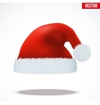 Red Santa Claus hat vector image