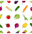 seamless pattern healthy vegetables farm product vector image
