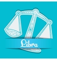 Background with zodiac sign Libra vector image vector image