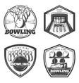 vintage monochrome active recreation emblems set vector image vector image