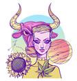 girl symbolizes the zodiac sign taurus pastel
