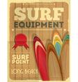 Surf Retro Poster vector image vector image