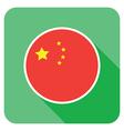 flat china icon vector image
