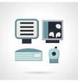 Ultrasound equipment flat icon vector image