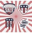 Presidents Day patriotic Labels Set vector image