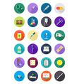 Color round medicine icons set vector image vector image