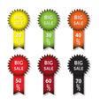 big sale icons vector image vector image