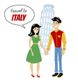 travel to italy vector image vector image