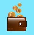 bitcoin stock digital vector image
