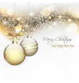 christmas and new year wishes with hanging vector image