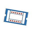 cinema ticket movie entertainment show vector image