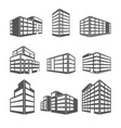dimensional building as a design web icons vector image