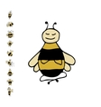 Funny bee yoga sketch for your design vector image