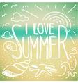 I love Summer doodle vector image