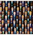 seamless pattern with men businessmen or vector image