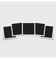 Set of retro photo frame on a transparent vector image