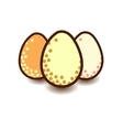 Three eggs icon vector image