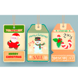 Winter Sale Tags Discount with elements of new yea vector image