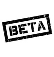 Beta rubber stamp vector image