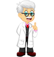 cute doctor cartoon pointing vector image vector image
