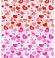 Dual seamless hearts pattern vector image