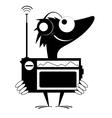 Radio fun vector image