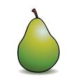 Healthy cartoon pear vector image