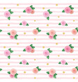 seamless pattern with roses and glitter polka dots vector image vector image
