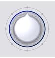 Volume Control Dial White Button vector image