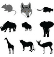 mouse outline painting paw pest pet rat tai vector image vector image