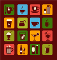 drinks and beverages icons 38 vector image
