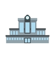 Railway station icon vector image