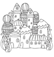 Fantasy fairy houses in the magic forest vector image