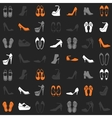 pattern with different kinds of shoes vector image