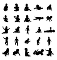 Baby silhouettes set vector image