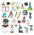 Chemistry physics mathematics education sketches vector image