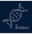 DNA symbol with education and science icons vector image