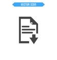 document icon flat icon vector image